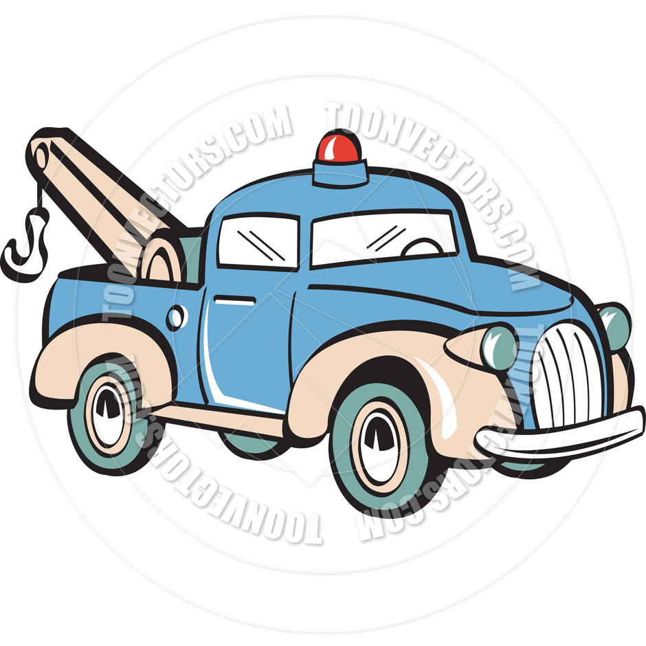 Cartoon Tow Truck Vector Illustration