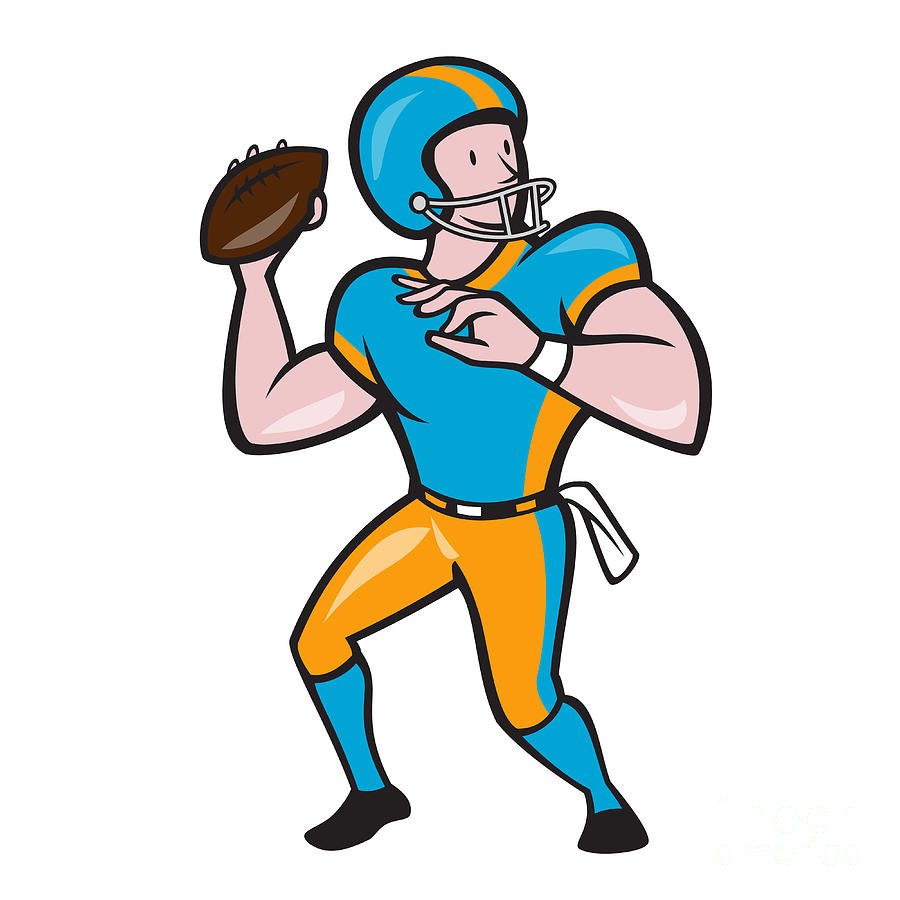 Football Cartoon Clipart - Clipart Kid