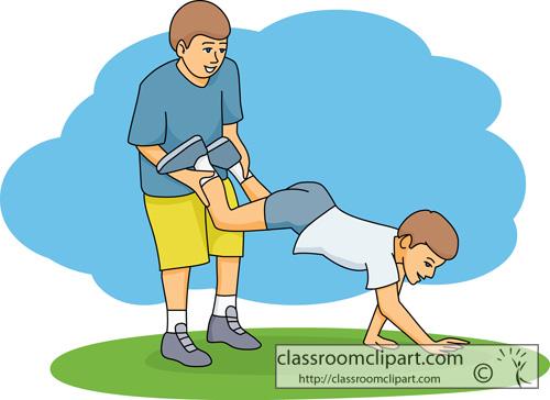 Wheelbarrow Exercise Clip Art