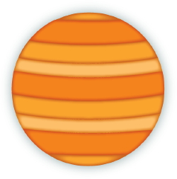 Clip Art Of The Planet Jupiter With Orange And Yellow Stripes