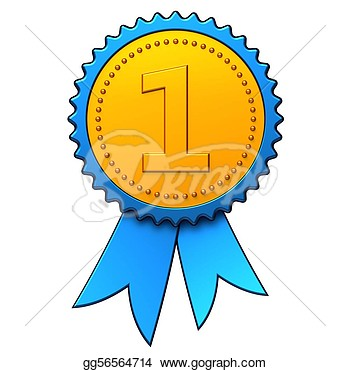 Clipart   First Place Award Ribbon  Hi Res   Stock Illustration