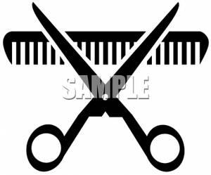 Scissors And Comb Clipart - Clipart Kid