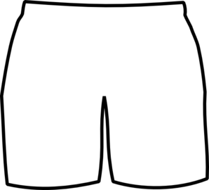 Clipart Shorts Colouring Pages