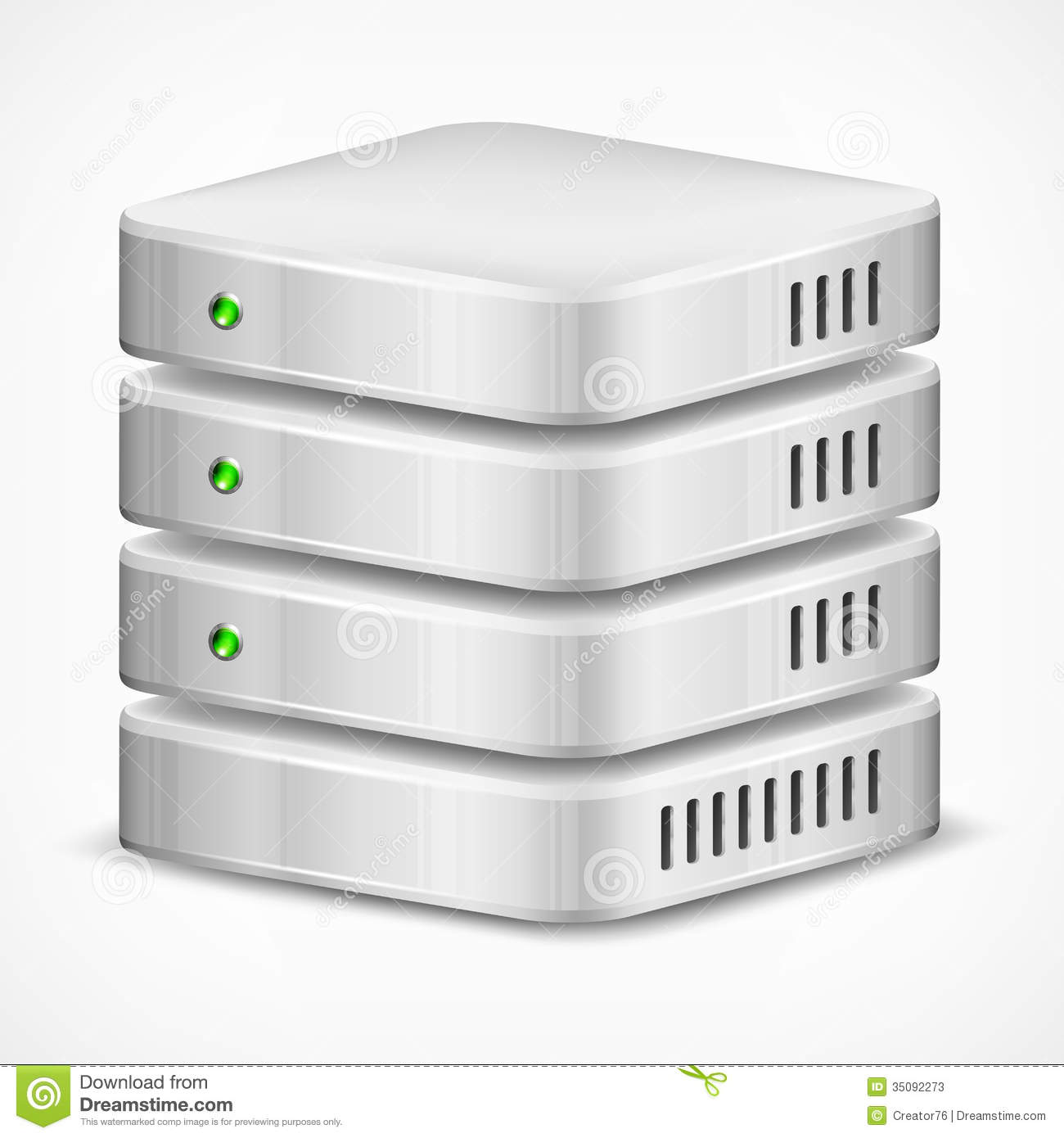 Computer Database Clipart Database On White Stock Photos # ...
