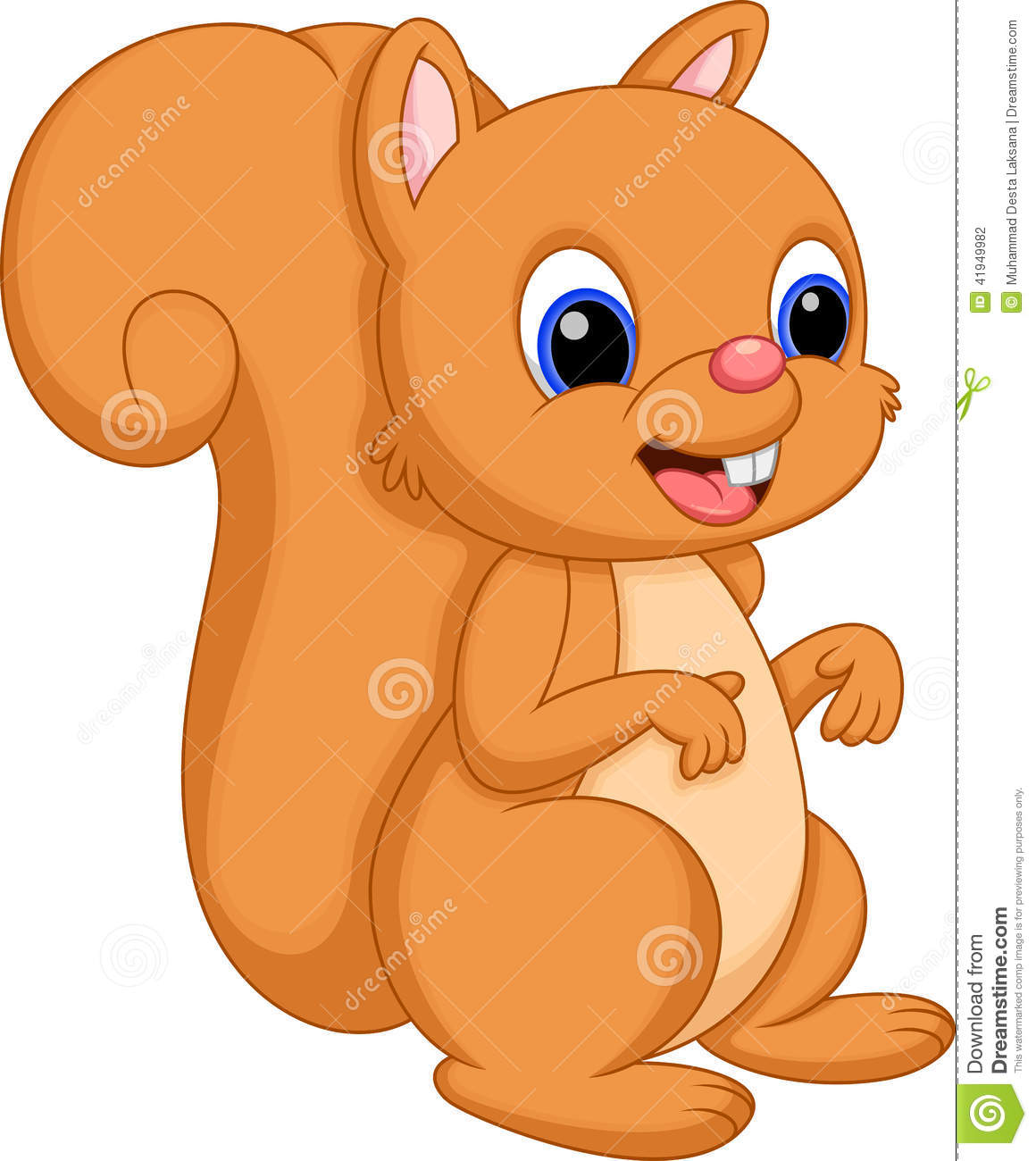 Cute Squirrel Clipart Cute Squirrel Cartoon With A