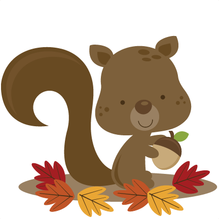 Fall Squirrel Svg File For Scrapbooking Cardmaking Squirrel Svg Cut