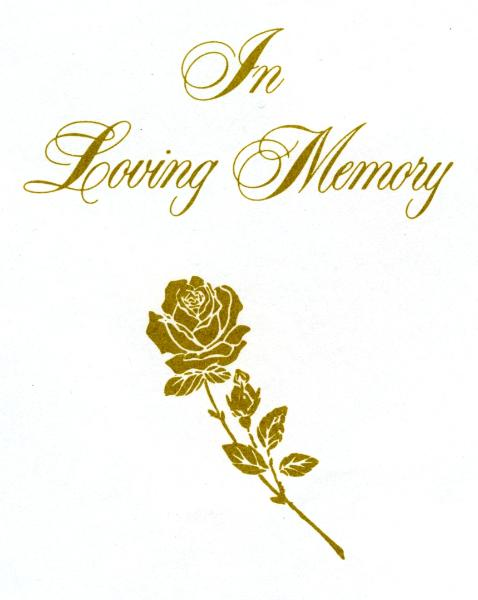 In Loving Memory Clipart   Wedding Photo