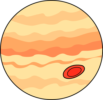 Jupiter Clip Art Image   Planet Jupiter With Red Spot