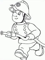 Fireman Black And White Clipart - Clipart Suggest