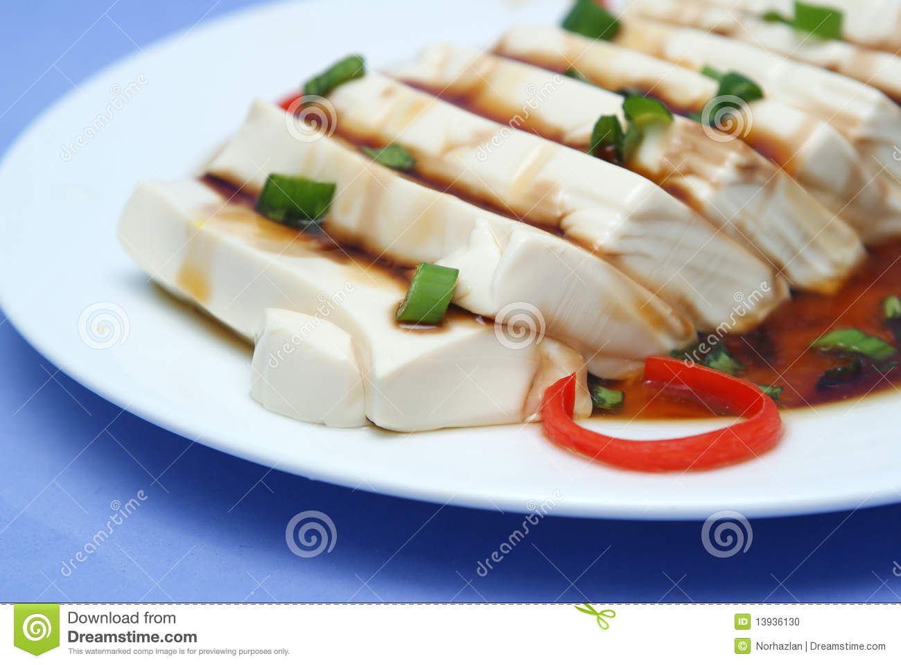 Tofu With Soy Sauce In Delicious Looks