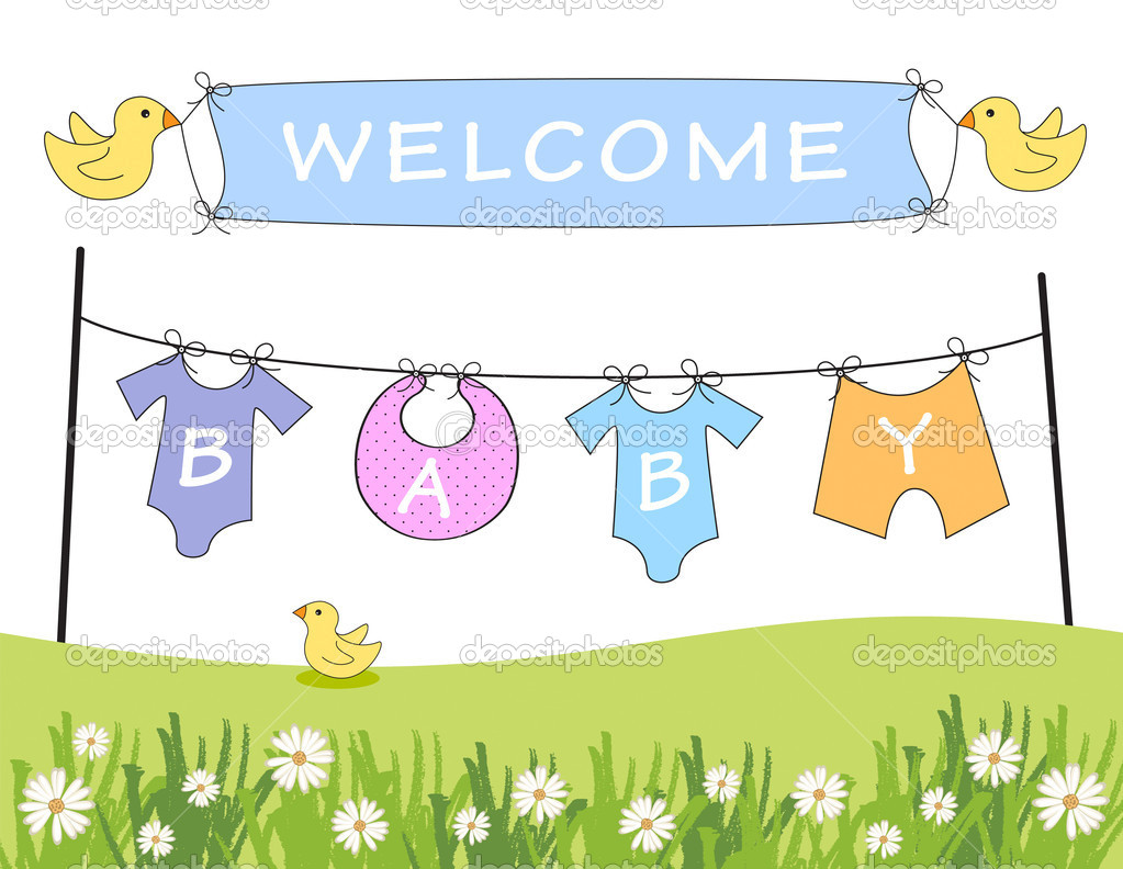 Welcome Baby Announcement   Stock Photo   Agcuesta1  7654924