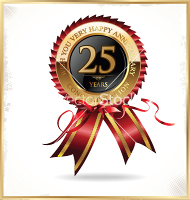 25 Years Anniversary Label Vector Art   Download Vectors   1557491