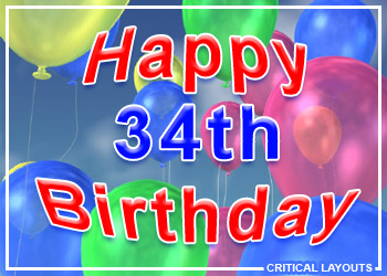 34th Birthday Images At Birthday Graphics Com