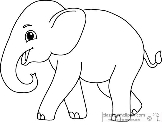 Clip Art Elephant Clipart Black And White elephant black and white clipart kid animals asian outline 914 classroom clipart