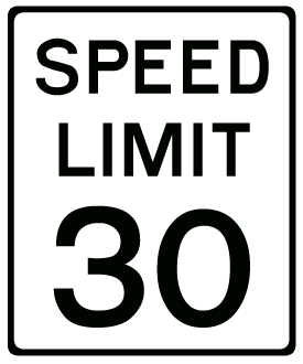 Speed Limit Sign Clipart - Clipart Kid