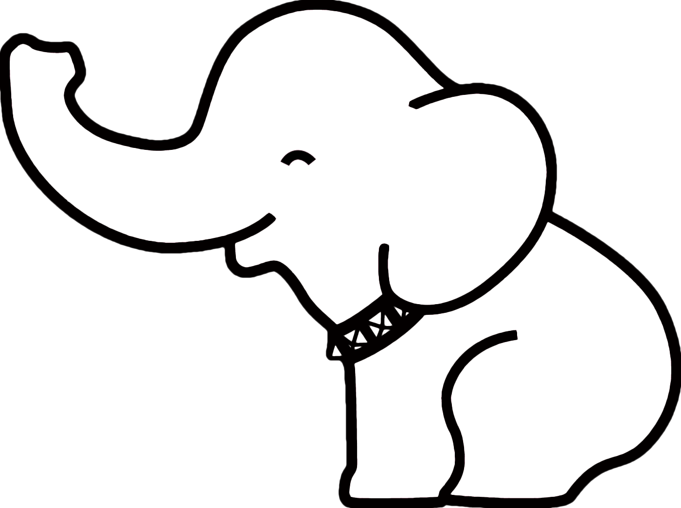 Baby Elephant Outline Clipart - Clipart Suggest