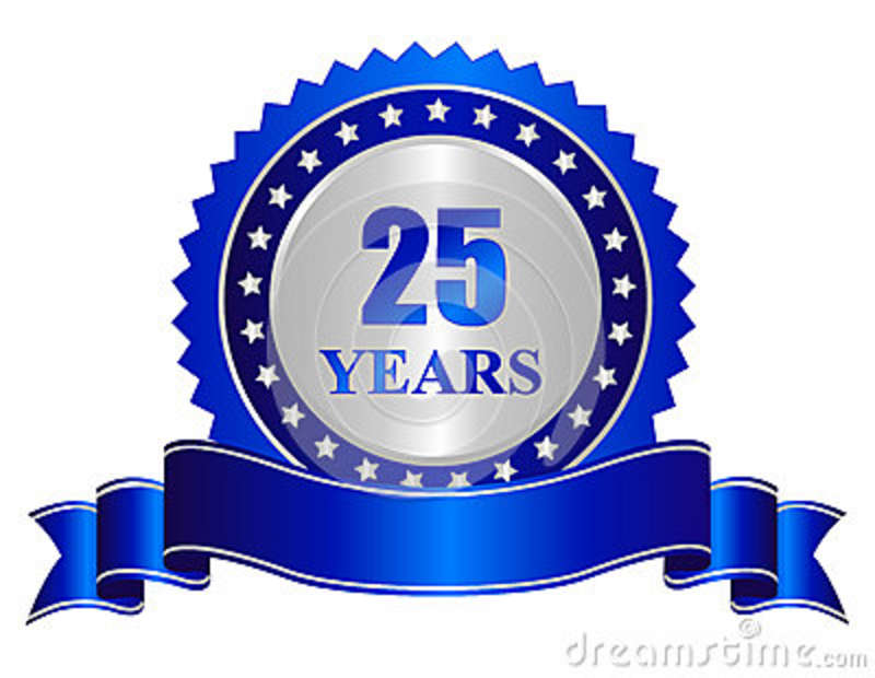 25 Years Of Service Clipart Clipart Suggest