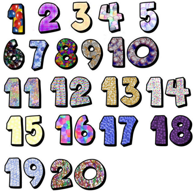 Clip Art Numbers 1 20 Clipart
