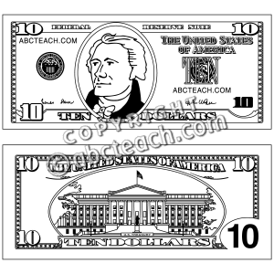 2 Dollar Bill Coloring Page on Printable Bill Of Sale As Is Template