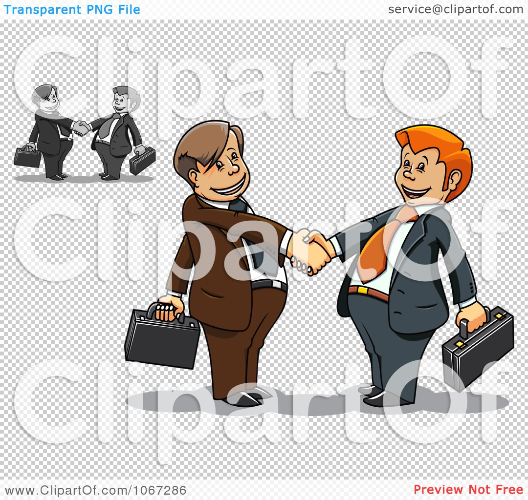Clipart Business Men Shaking Hands 2   Royalty Free Vector