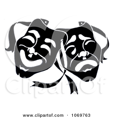 Clipart Dramatic Theater Masks   Royalty Free Illustration By