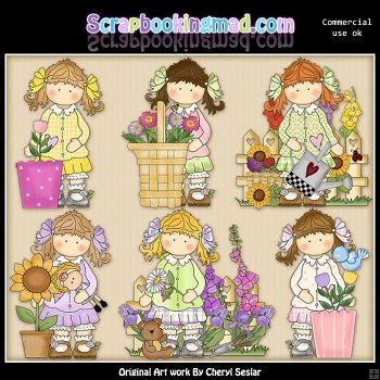 Clipart Shop    Browse All Clipart    Holly Secret Garden Clipart