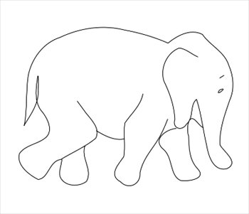 Elephant Outline Clipart - Clipart Kid
