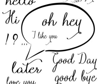 Just Saying Hello Clipart Words Clip Art Speech Clipart