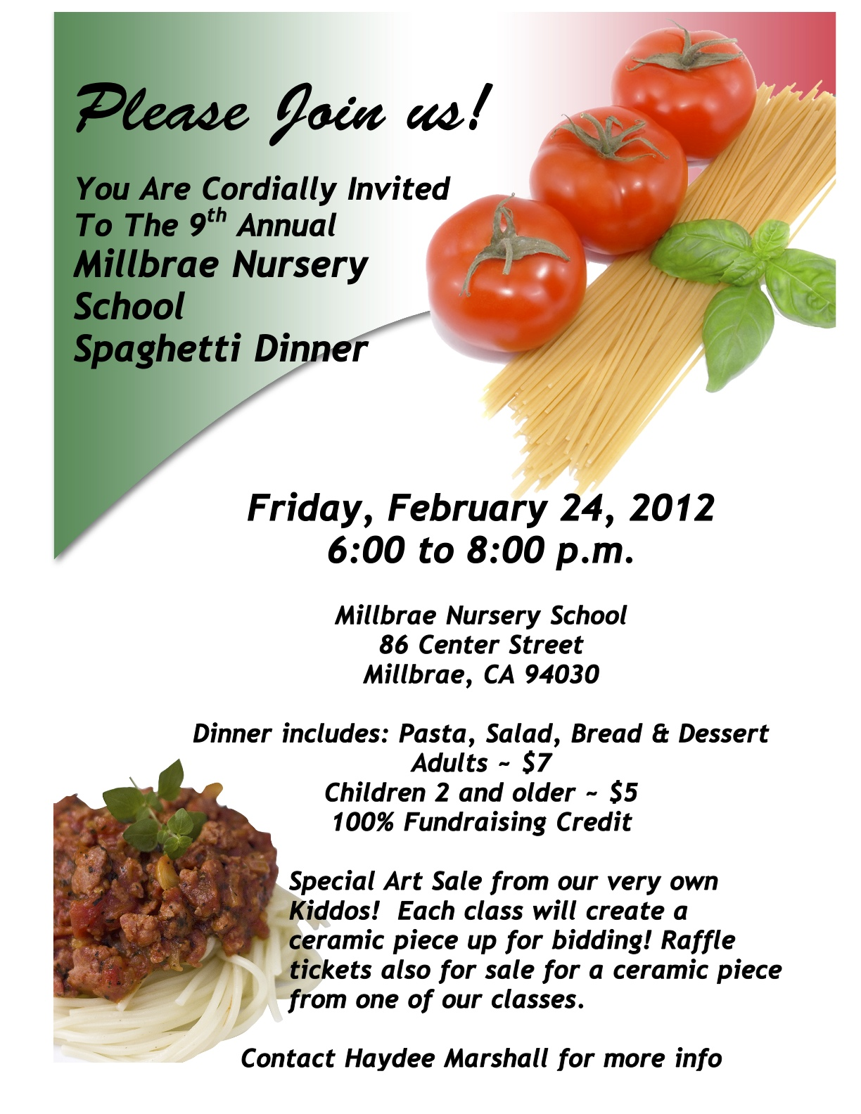 spaghetti fundraiser clipart clipart kid millbrae nursery school spaghetti dinner fundraiser san mateo county