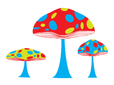 Secret Garden Mushrooms Clipart   Meylah