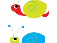 Secret Garden Snails Clipart