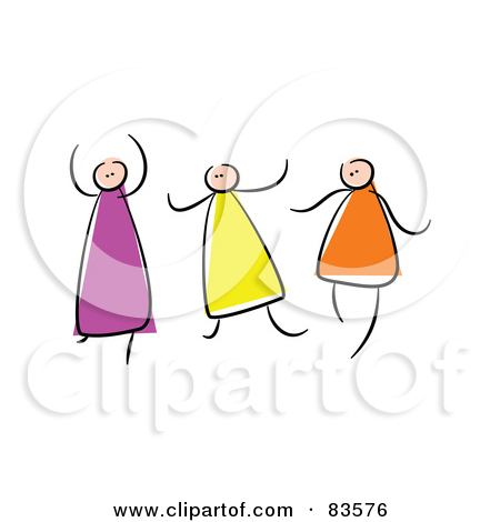 Three Sisters Clipart Royalty Free  Rf  Clipart Illustration