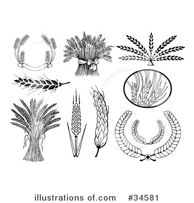 Wheat Clipart  34581 By C Charley Franzwa   Royalty Free  Rf  Stock