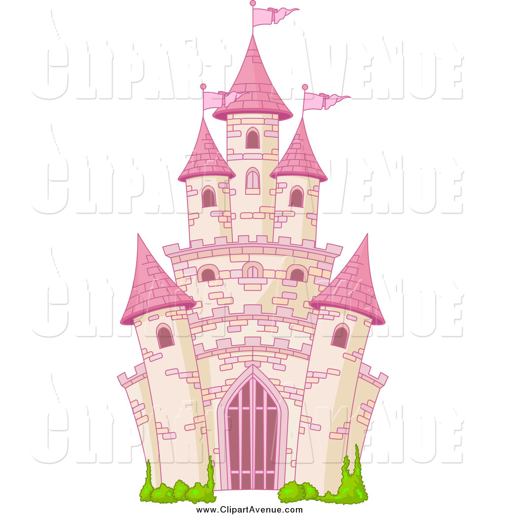 Avenue Clipart Of A Pink Fairy Tale Castle By Pushkin    1506