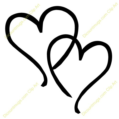 Back   Gallery For   Interlocking Hearts Clip Art
