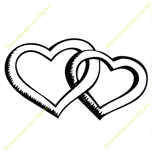Clipart 11832 Outlined Interlocking Hearts   Outlined Interlocking