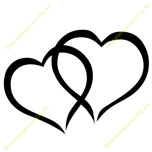 Clipart 12057 Interlocking Cute Hearts   Interlocking Cute Hearts Mugs