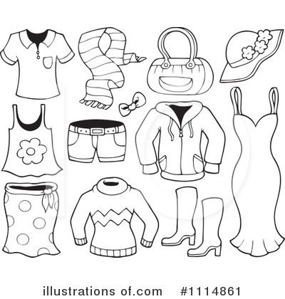 Clothes Clipart  1114861   Illustration By Visekart