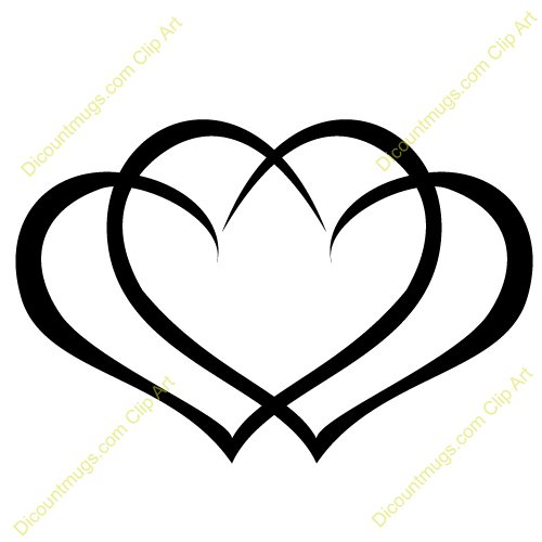 Comclipart 12059 Interlocking Hearts   Interlocking Hearts Mugs T
