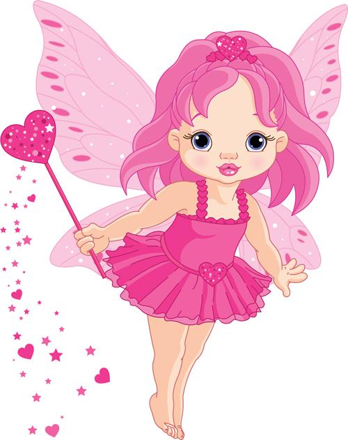 Cute Princess Design Vector Set 01   Vector People Free Download