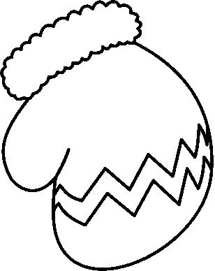 Black And White Mitten Clipart - Clipart Suggest