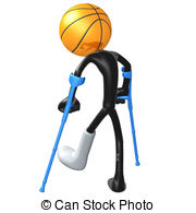 Injured Basketball Player   3d Concept And Presentation