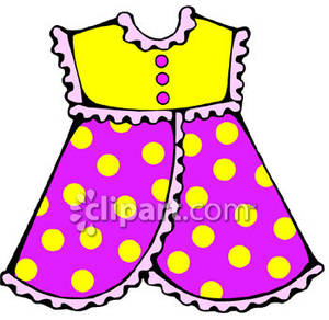 Little Girl S Pinafore Dress   Royalty Free Clipart Picture
