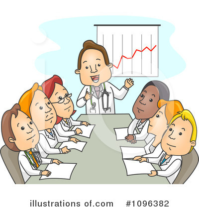 Medical Staff Meeting Clipart Clipart Illustration By