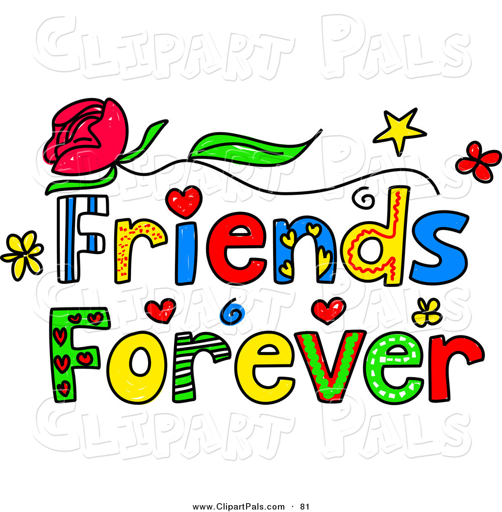 Cartoon Word Quote: New Word Friends Clipart