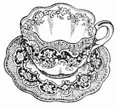 Tea Cup And Saucer Clip Art   Related Searches For Clip Art Tea Cup