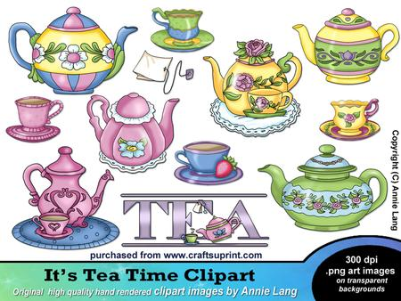 Tea Time Clipart   Designer Resources