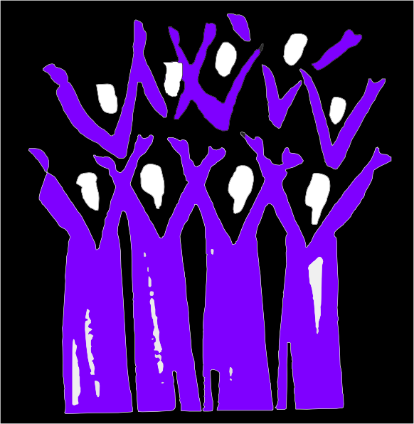 Choir Black And Purple Clip Art At Clker Com   Vector Clip Art Online