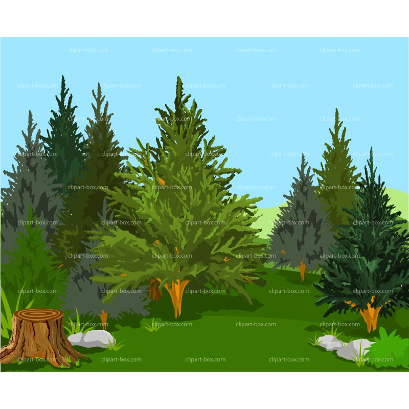 Clipart Forest Background   Royalty Free Vector Design