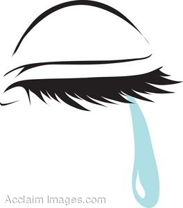 Closed Eye With A Tear Clip Art